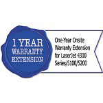 HP U3472PE One-Year Warranty Extension for LaserJet 4300 Series/5100/5200