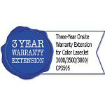 HP U8037E Three-Year Onsite Warranty Extension for CL 3000/3500/3800/CP3505