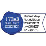 HP UC739PE One-Year Exchange Warranty Extension for CL 1600/2600/2605/CP1518/CP1215
