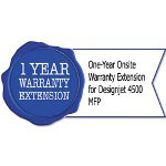 HP UD897PE One-Year Onsite Warranty Extension for Designjet 4500 MFP