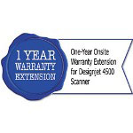 HP UD901PE One-Year Onsite Warranty Extension for Designjet 4500 Scanner