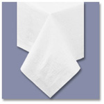 "Hoffmaster Tissue/Poly Tablecovers, Round, 82"" , White"