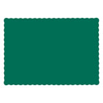 Hoffmaster Solid Color Scalloped Edge Placemats, 9 1/2 x 13 1/2, Hunter Green, 1000/Carton