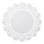 "Hoffmaster Round Lace Doilies, 8"", White"