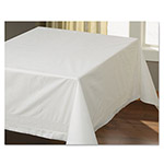 "Hoffmaster Tissue/Poly Tablecovers, 54"" x 54"", White"