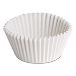 "Hoffmaster Fluted Bake Cups, 7/8"" x 7/8"" x 1 1/4"", White"