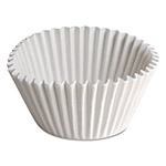 "Hoffmaster Fluted Bake Cups, 1 1/2"" x 1/2"" x 3 1/2"", White"