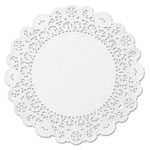 "Hoffmaster Brooklace Lace Doilies, Round, 4"", White, 2000/Carton"