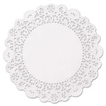"Hoffmaster Brooklace Lace Doilies, Round, 6"", White, 2000/Carton"
