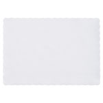 Hoffmaster PM32052 Scalloped Edge Placemat, 9.75 x 14