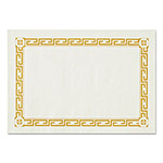 Hoffmaster Placemats, Greek Key Pattern, Paper, 14 x 10, Gold/White