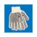 Galaxy 792 Men's Pvc Dotted String Knit Gloves, Large