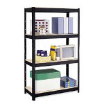 "Hirsh MDF Board Shelf, 36"" x 16"", Black"