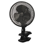 "Holmes 9"" Two-Speed Personal Clip-on Fan, Plastic, Black"