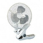 Holmes HACP9 White Oscillating Personal Clip Fan with Metal Grille, 2 Speed, 9""