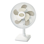 "Holmes HAOF613-U White 2Cool Personal Oscillating Table Fan, 12"" & 8"" Blades, 3 Speeds"