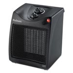Holmes Compact Ceramic Heater with Manual Thermostat, 7 3/8 x 7 3/8 x 9 1/8, Black
