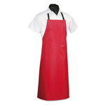 Hi-Lite Uniform Dishwashing Apron, PVC/Vinyl, 29 x 42, Black