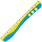 "Helix Wave Grip Kidy Ruler, 12"", Ast"