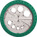 Helix Angle and Circle Protractor, Assorted