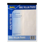 "Helix Vellum Pad, 8-1/2"" x 11"", 50 Sheets, White"