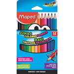 Helix Jumbo Colored Pencils, 12/PK, Assorted
