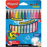 Helix Washable Markers, Fine Tip, 12/ST, Assorted