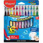 Helix Washable Markers, Fine Tip, 24/ST, Assorted