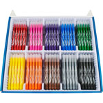 Helix Washable Markers, Fine Tip, 200/BX, Assorted