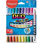 Helix Washable Markers, Twin Tip, Ast