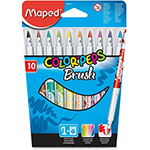Helix Washable Markers, Bush Tip, 10/PK, Ast