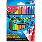 Helix Plastic Crayons, Dual-Sided, 12/PK, Assorted