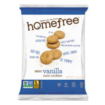 Homefree Gluten Free Vanilla Mini Cookies, 1.1 oz Pack, 30/Carton