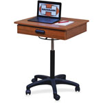 "Hausman Mobile Computer Workstation, 36""-36"" x 22"" x 20"", Wild Cherry"