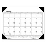 House Of Doolittle Nonrefillable 4 Corner Dated 12 Month Desk Pad Calendar Holder, 18 1/2x13, Black