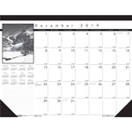"House Of Doolittle Black on White Nature Photos Monthly Desk Pad Calendar, 22"" x 17"""