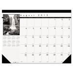 House Of Doolittle Black-on-White Academic Desk Pad Calendar, 22 x 17, 2014-2015