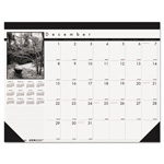 House Of Doolittle Recycled Black-and-White Photo Monthly Desk Pad Calendar, 18 1/2 x 13, 2017-2018