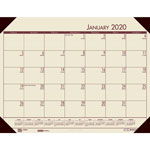 House Of Doolittle Recycled EcoTones Cranberry Monthly Desk Pad Calendar, 22 x 17, 2018