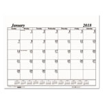 House Of Doolittle Recycled One-Color Dated Monthly Desk Pad Calendar Refill, 22w x 17h, 2018