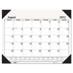 "House Of Doolittle Economy Academic Desk Pad Calendar, 17 Month August - December, 22"" x 17"""