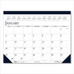 House Of Doolittle Two-Color Monthly Desk Pad Calendar, 18-1/2 x 13