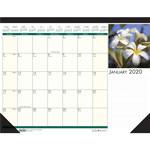House Of Doolittle Floral Photographic Monthly Desk Pad Calendar, 18 1/2 x 13, 2015