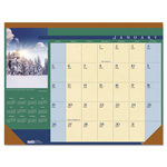 House Of Doolittle Recycled Landscapes Photographic Monthly Desk Pad Calendar, 22 x 17, 2017