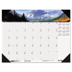 House Of Doolittle Mountains of the World Desk Pad Calendar, Monthly, 18-1/2 x 13