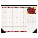 "House Of Doolittle Desk Pad, Rose Photos, 12 Month, Jan-Dec, 18-1/2""x13"""