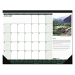 House Of Doolittle Golf Courses Desk Pad, Monthly, 18-1/2 x 13