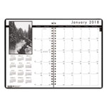 House Of Doolittle Monthly Planner w/Black-&-White Photos, 8-1/2 x 11, Black, 2016-2018