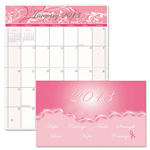 House Of Doolittle Breast Cancer Pocket Secretary, 14 Month, One Month/Spread, 3-5/8 x 6-1/2, Pink
