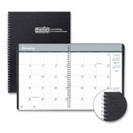 House Of Doolittle Two-Year Monthly Hard Cover Planner, 8 1/2 x 11, Black, 2018-2019